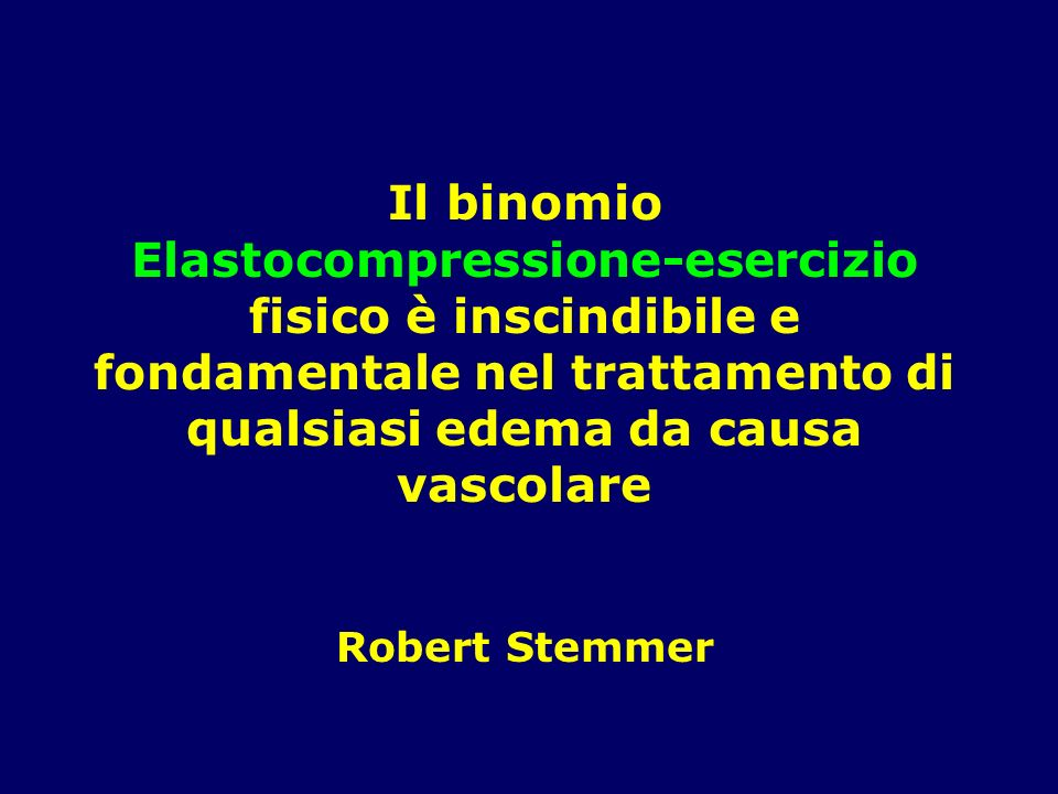 Il binomio Elastocompressione-esercizio fisico è inscindibile e fondamentale nel trattamento di qualsiasi edema da causa vascolare