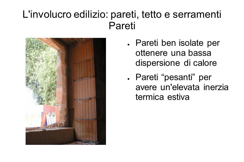 L involucro edilizio: pareti, tetto e serramenti Pareti