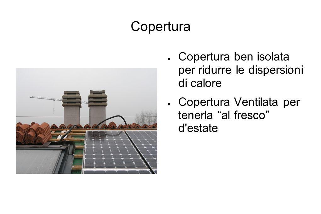 Copertura Copertura ben isolata per ridurre le dispersioni di calore