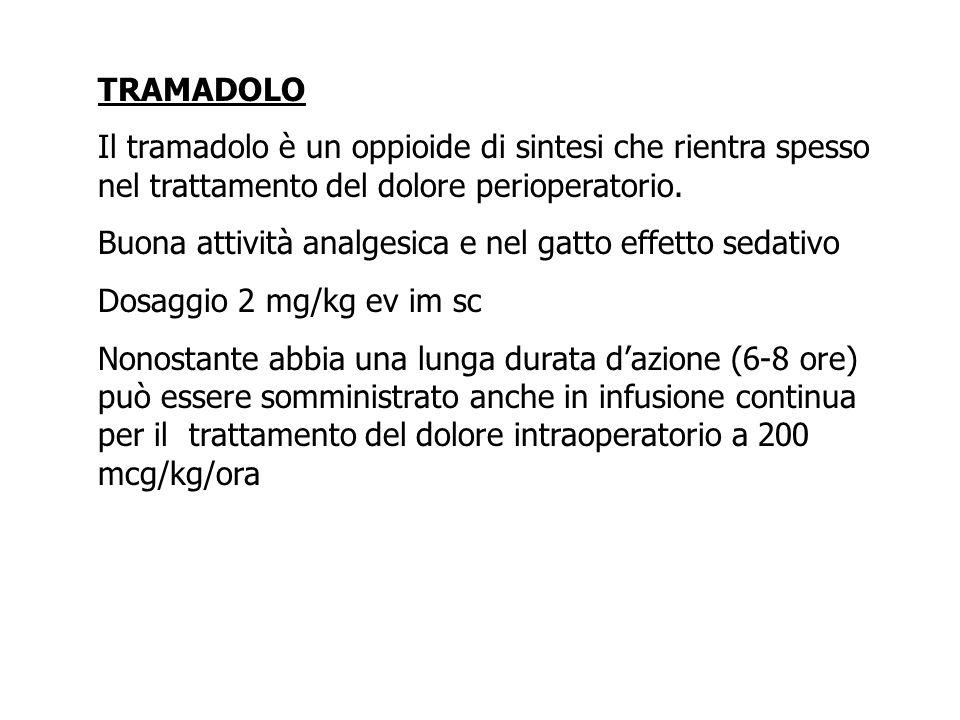 TRAMADOLO Il tramadolo è un oppioide di sintesi che rientra spesso nel trattamento del dolore perioperatorio.