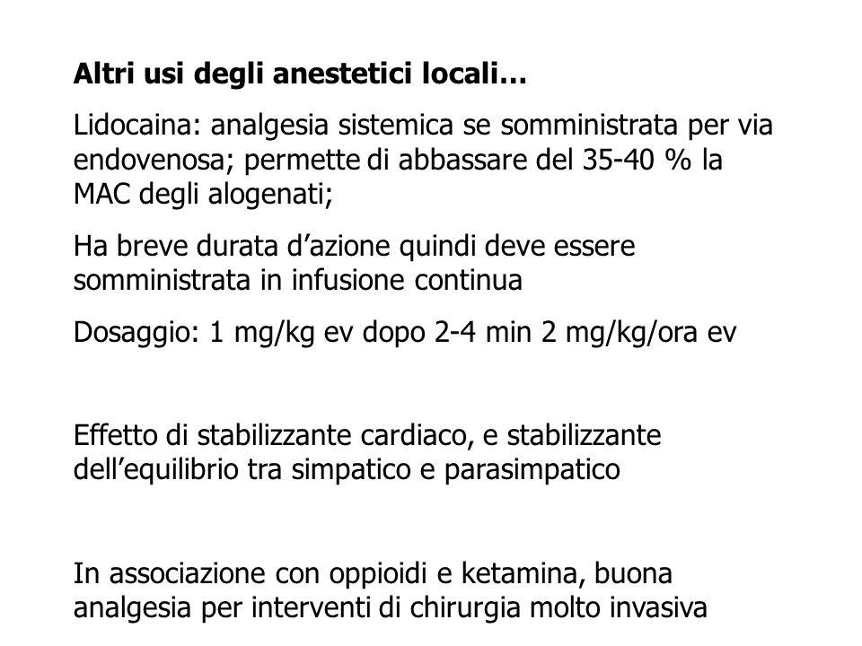 Altri usi degli anestetici locali…