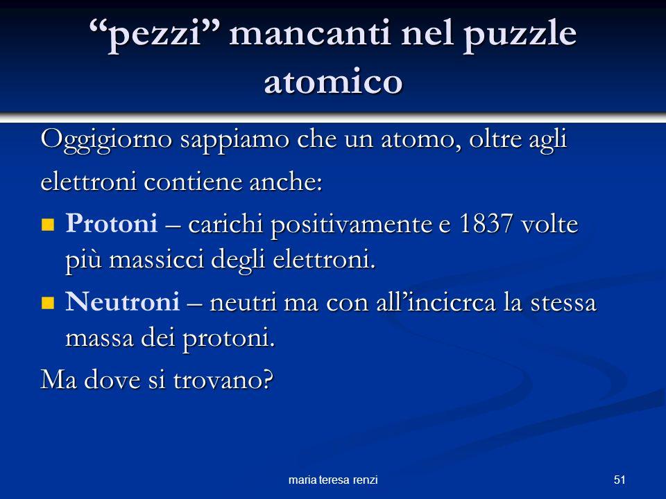 pezzi mancanti nel puzzle atomico