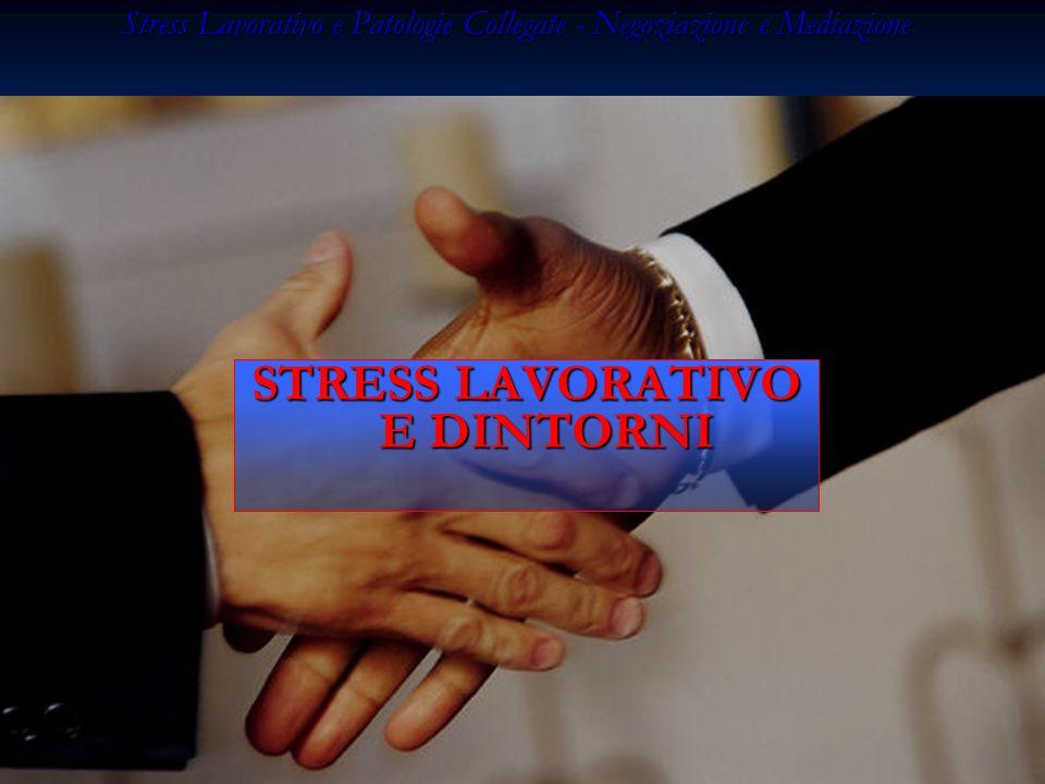 Stress Lavorativo e Patologie Collegate - Negoziazione e Mediazione