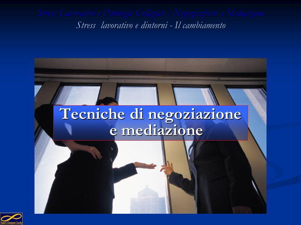 Tecniche di negoziazione e mediazione