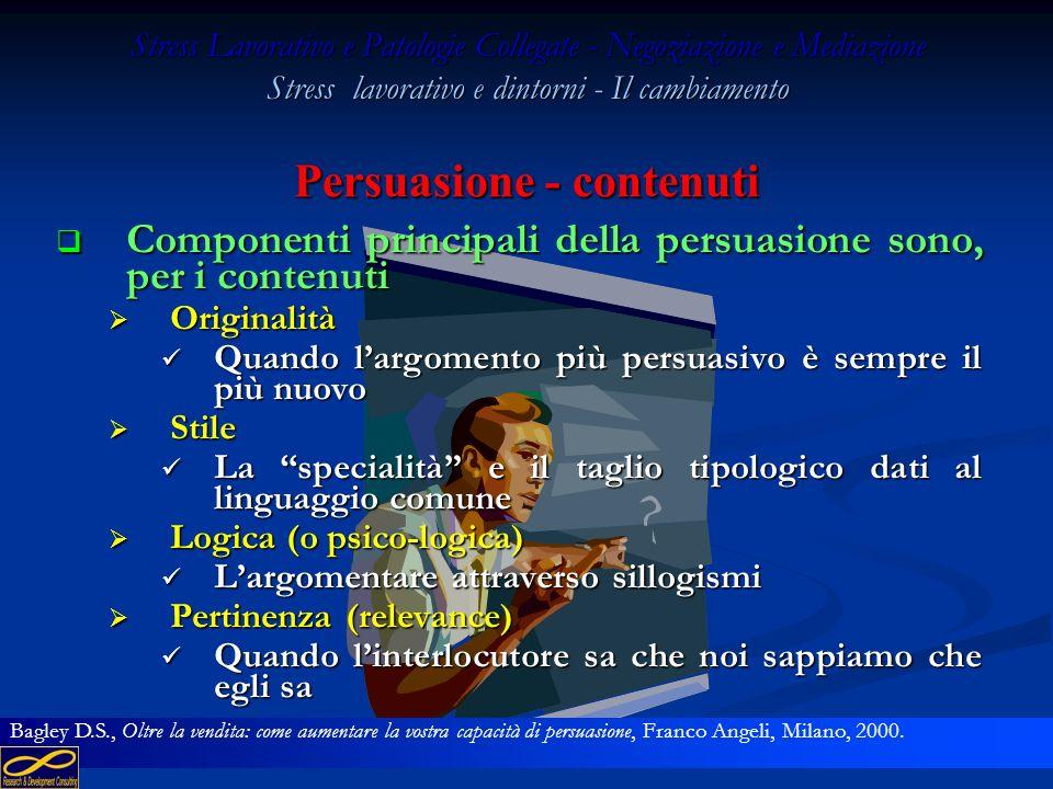 Persuasione - contenuti