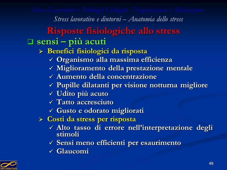 Risposte fisiologiche allo stress