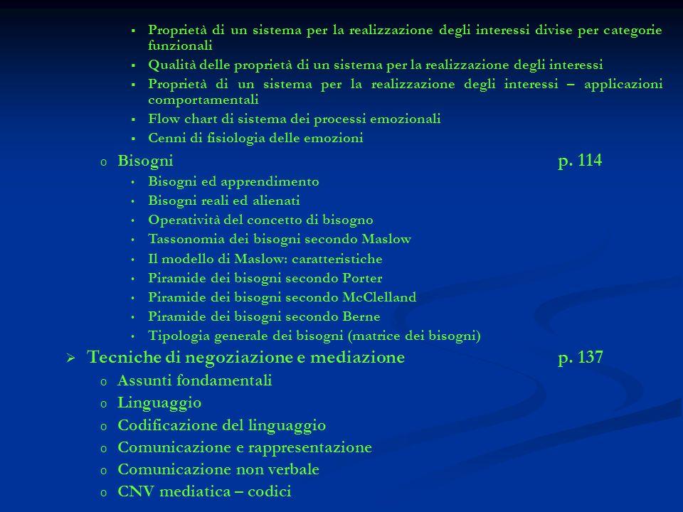 Tecniche di negoziazione e mediazione p. 137