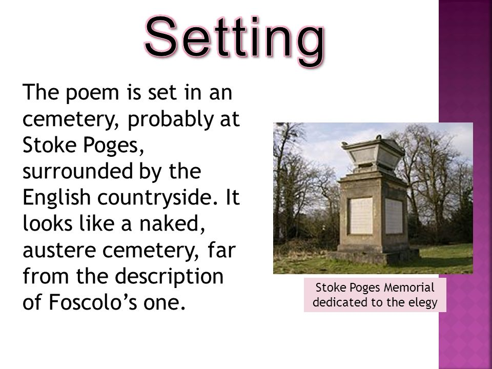 Stoke Poges Memorial dedicated to the elegy