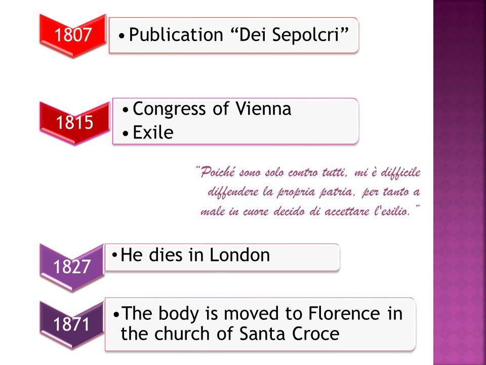 Publication Dei Sepolcri