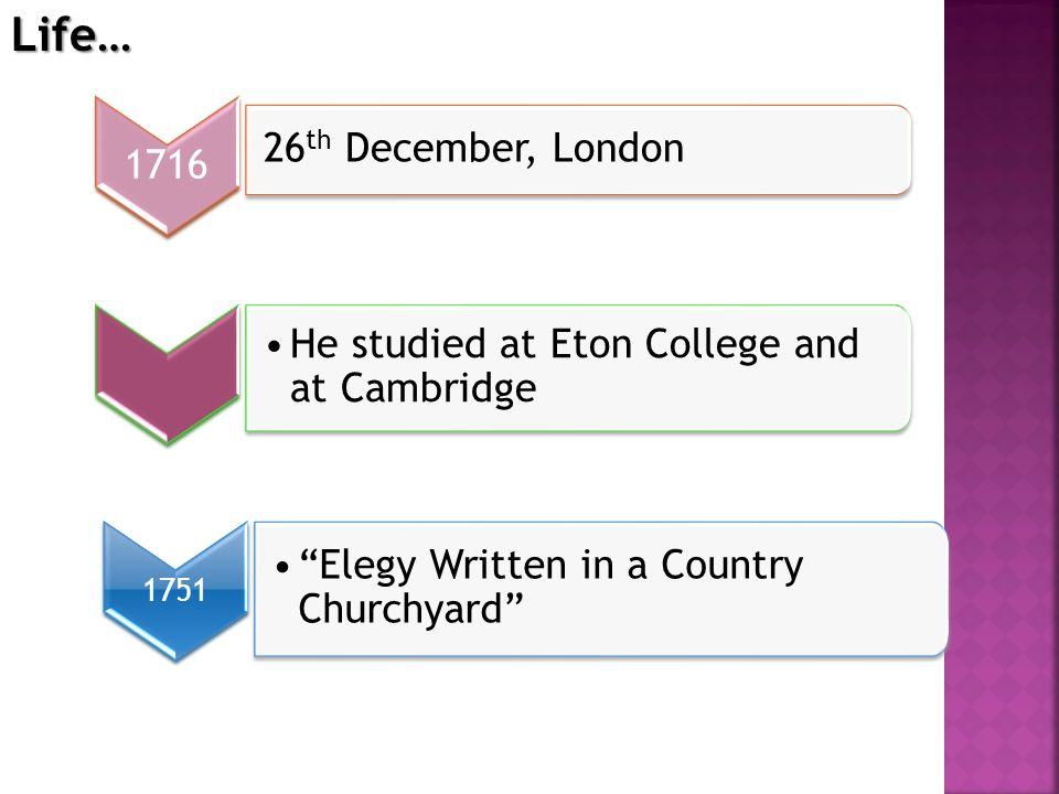Life… 26th December, London 1716