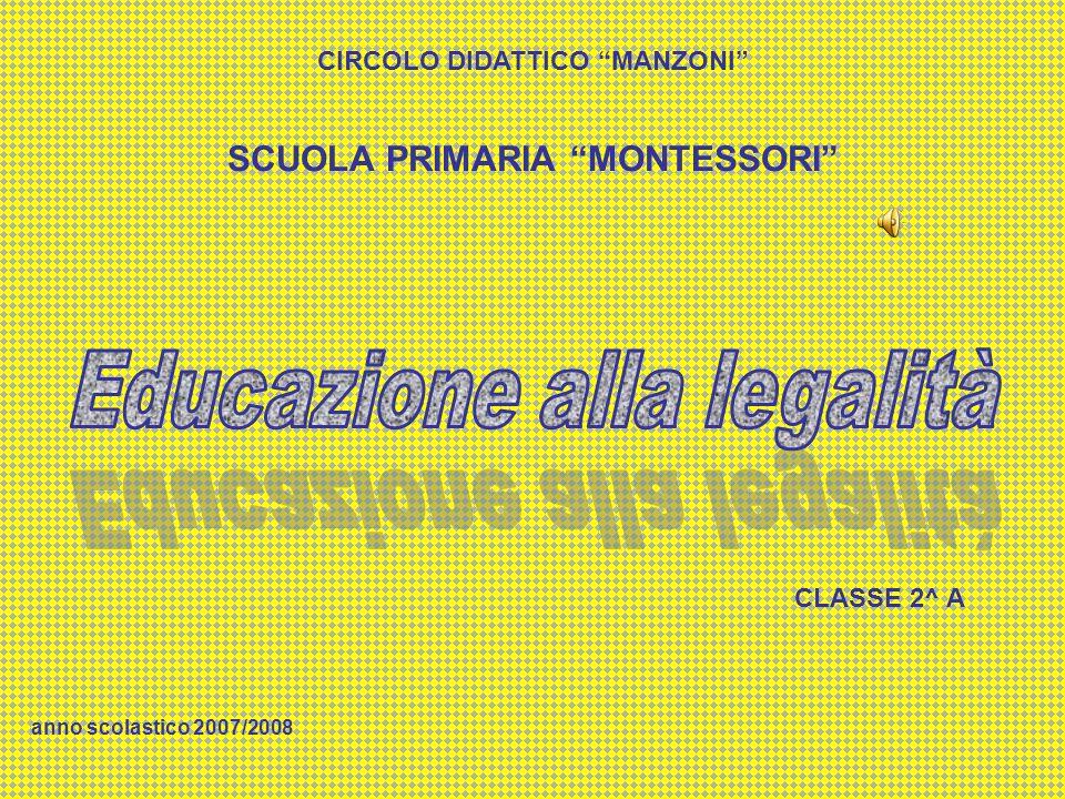CIRCOLO DIDATTICO MANZONI SCUOLA PRIMARIA MONTESSORI
