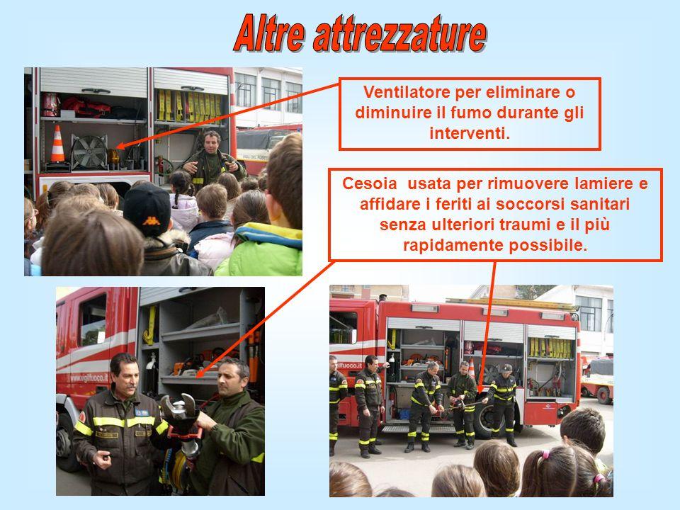 Ventilatore per eliminare o diminuire il fumo durante gli interventi.
