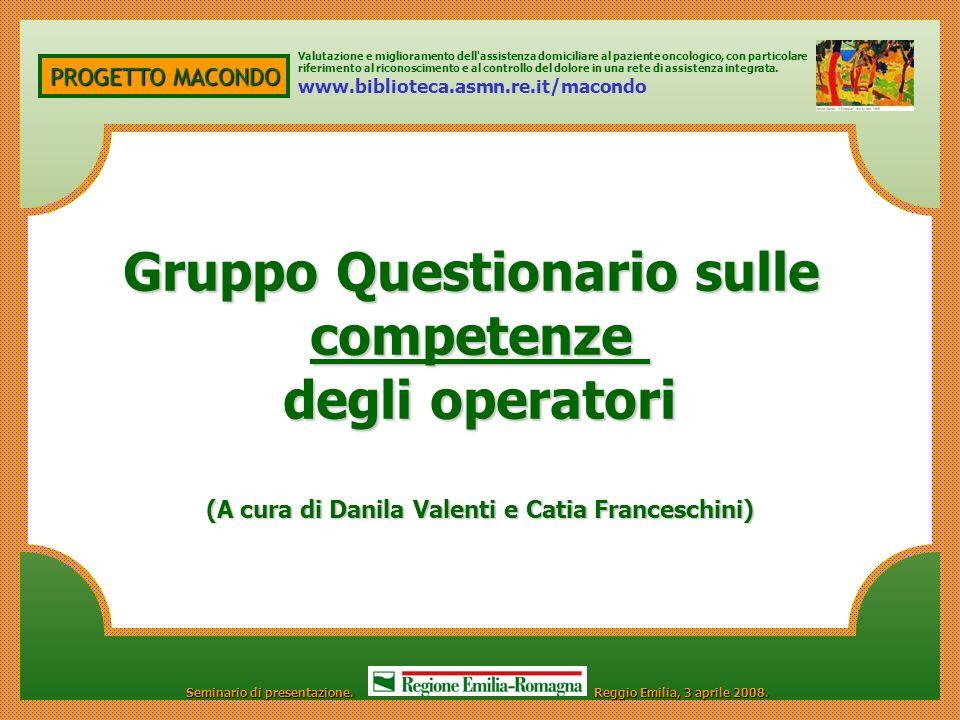 Gruppo Questionario sulle competenze degli operatori