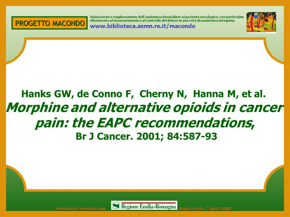 Morphine and alternative opioids in cancer