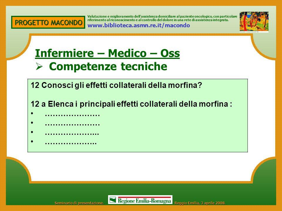 Infermiere – Medico – Oss Competenze tecniche