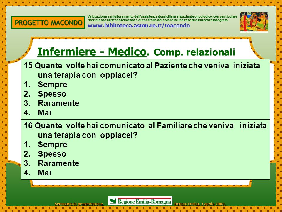 Infermiere - Medico. Comp. relazionali