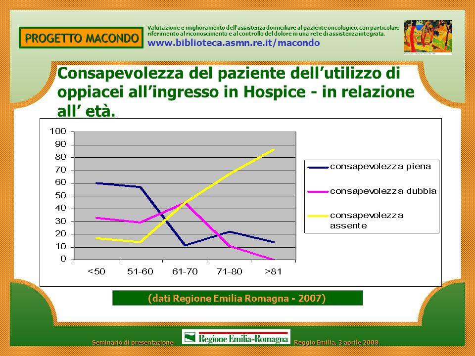 (dati Regione Emilia Romagna - 2007)