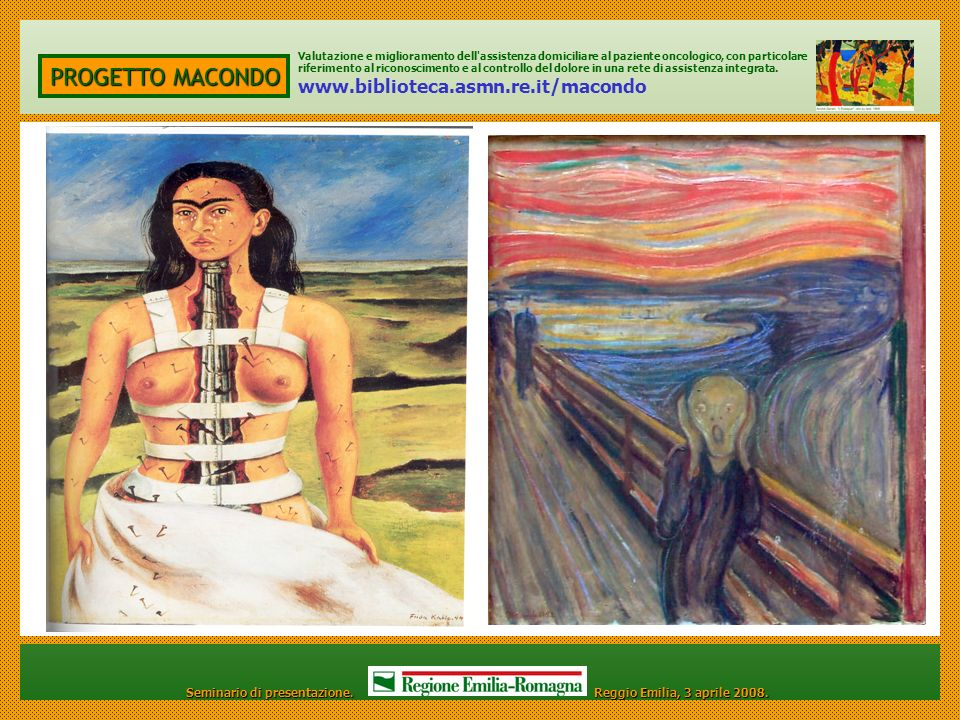 PROGETTO MACONDO www.biblioteca.asmn.re.it/macondo