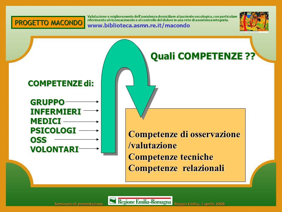 Competenze di osservazione /valutazione Competenze tecniche