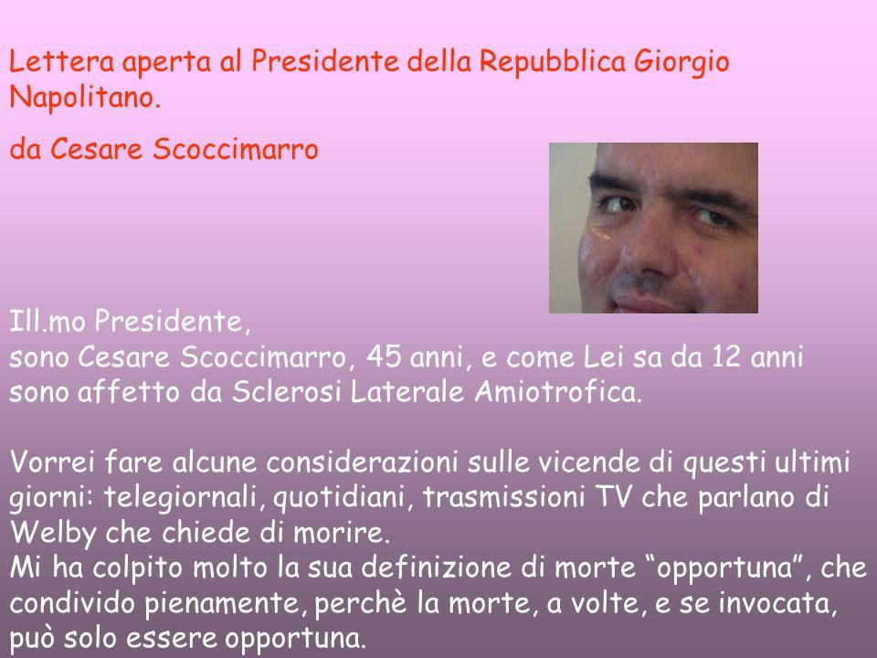 Lettera aperta al Presidente della Repubblica Giorgio Napolitano.
