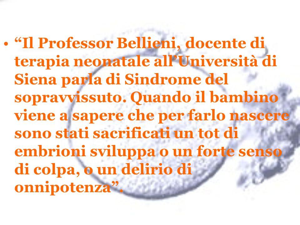 Il Professor Bellieni, docente di terapia neonatale all'Università di Siena parla di Sindrome del sopravvissuto.