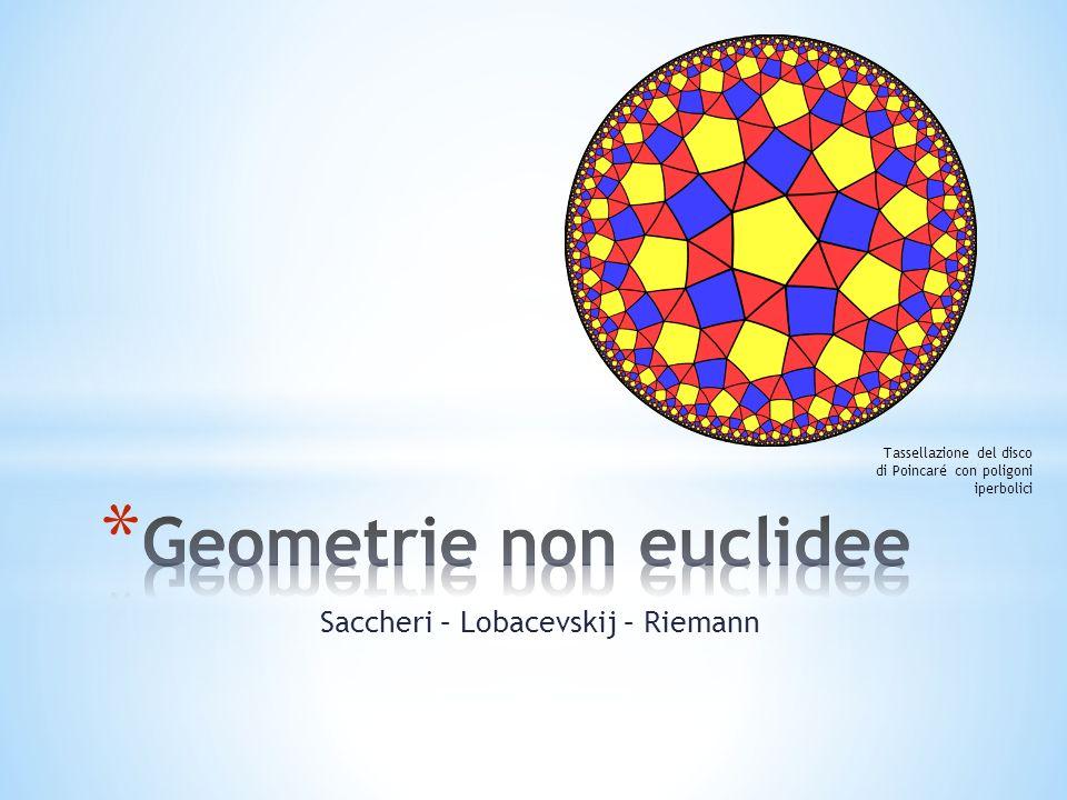 Saccheri – Lobacevskij – Riemann