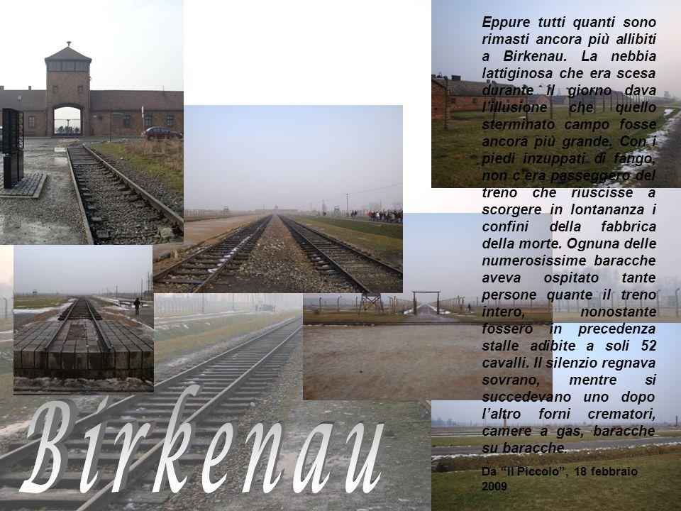 Eppure tutti quanti sono rimasti ancora più allibiti a Birkenau