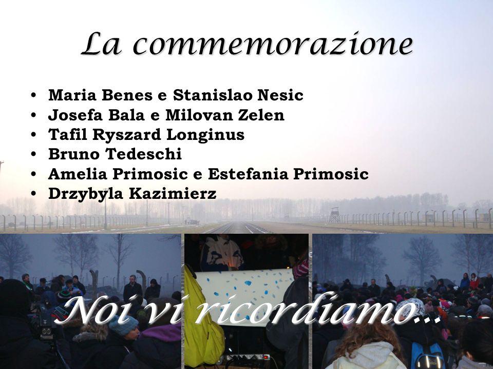 Noi vi ricordiamo... La commemorazione Maria Benes e Stanislao Nesic