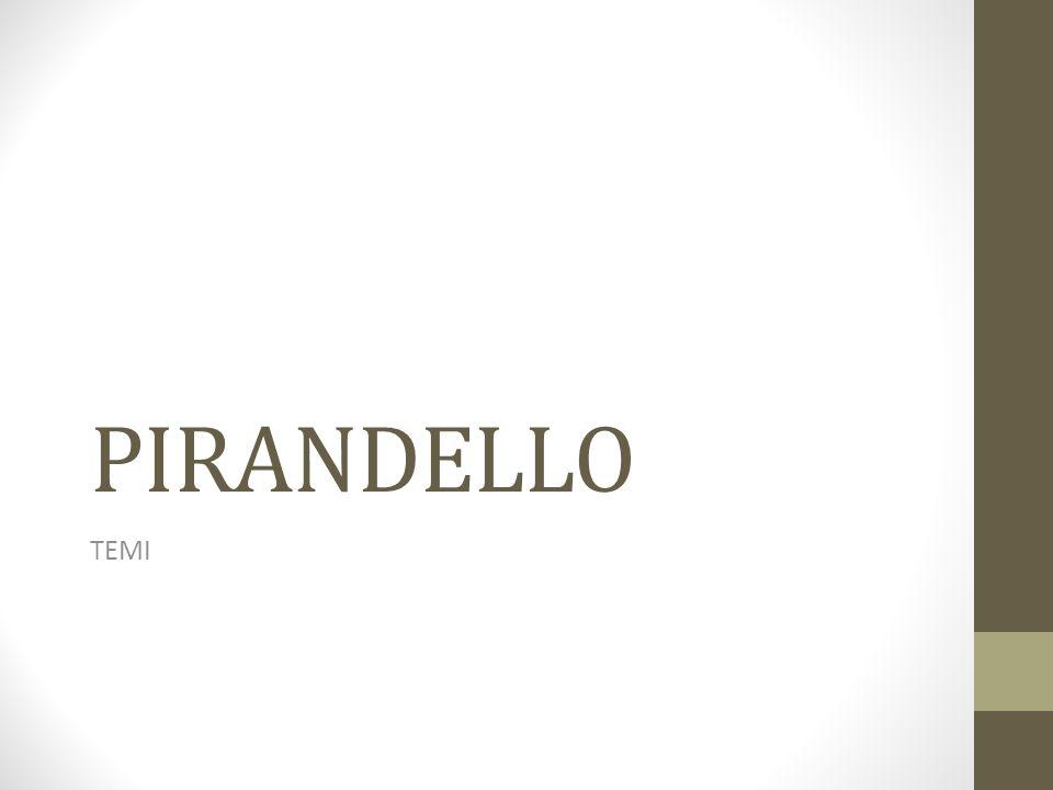 PIRANDELLO TEMI