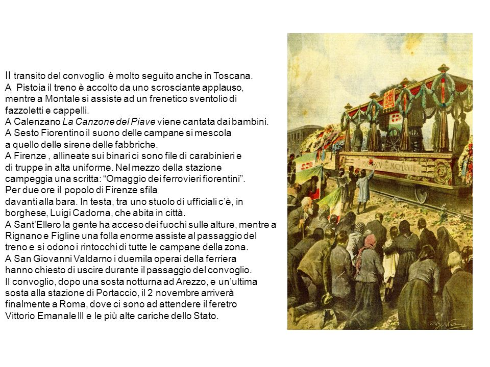 Il transito del convoglio è molto seguito anche in Toscana.