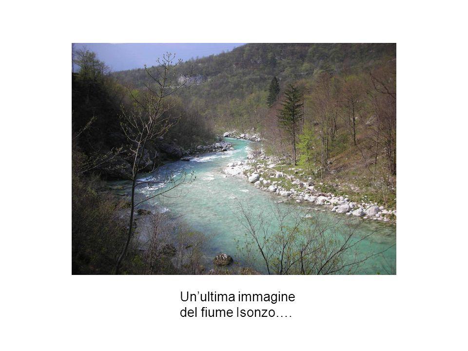 Un'ultima immagine del fiume Isonzo….
