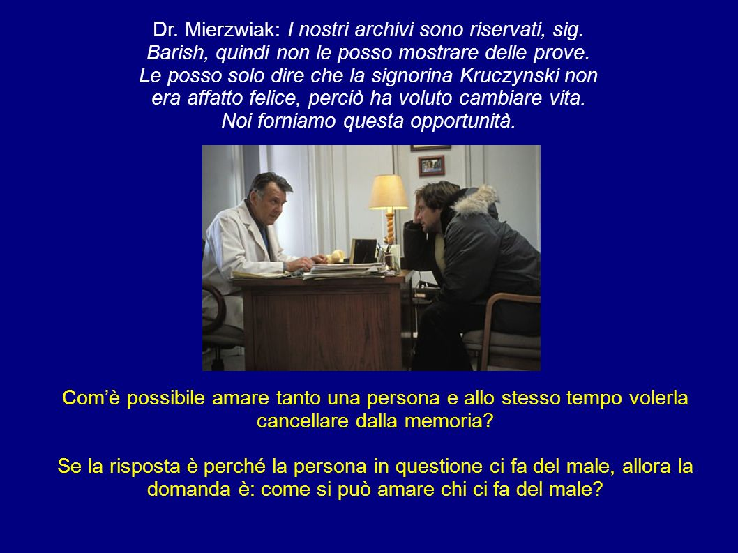 Dr. Mierzwiak: I nostri archivi sono riservati, sig
