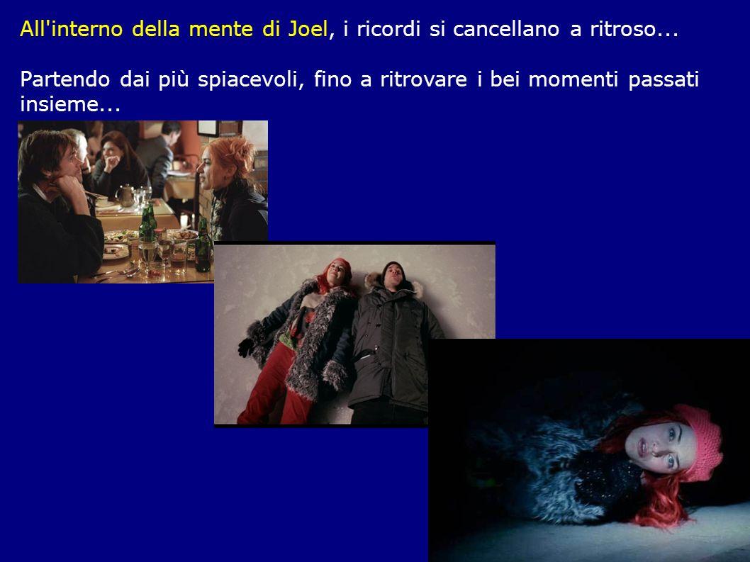 All interno della mente di Joel, i ricordi si cancellano a ritroso...