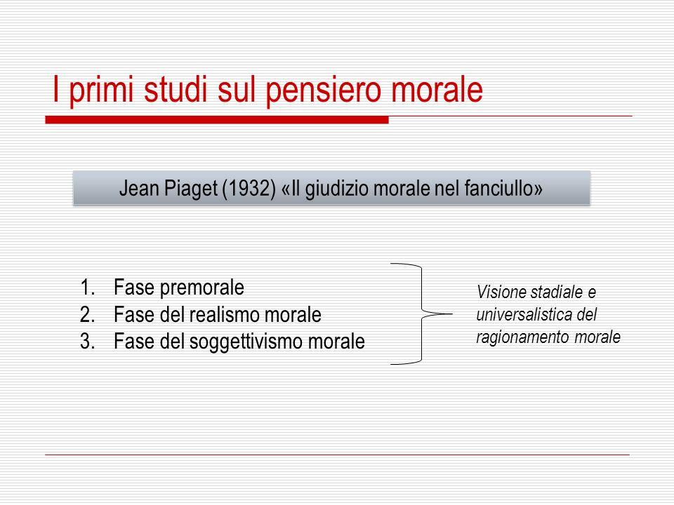Jean Piaget (1932) «Il giudizio morale nel fanciullo»