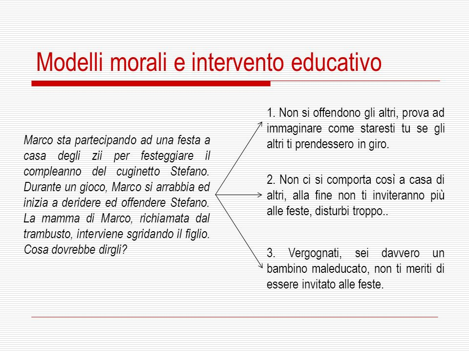 Modelli morali e intervento educativo