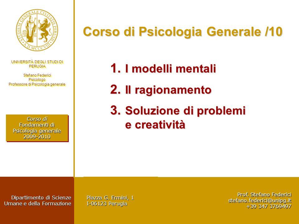 Corso di Psicologia Generale /10