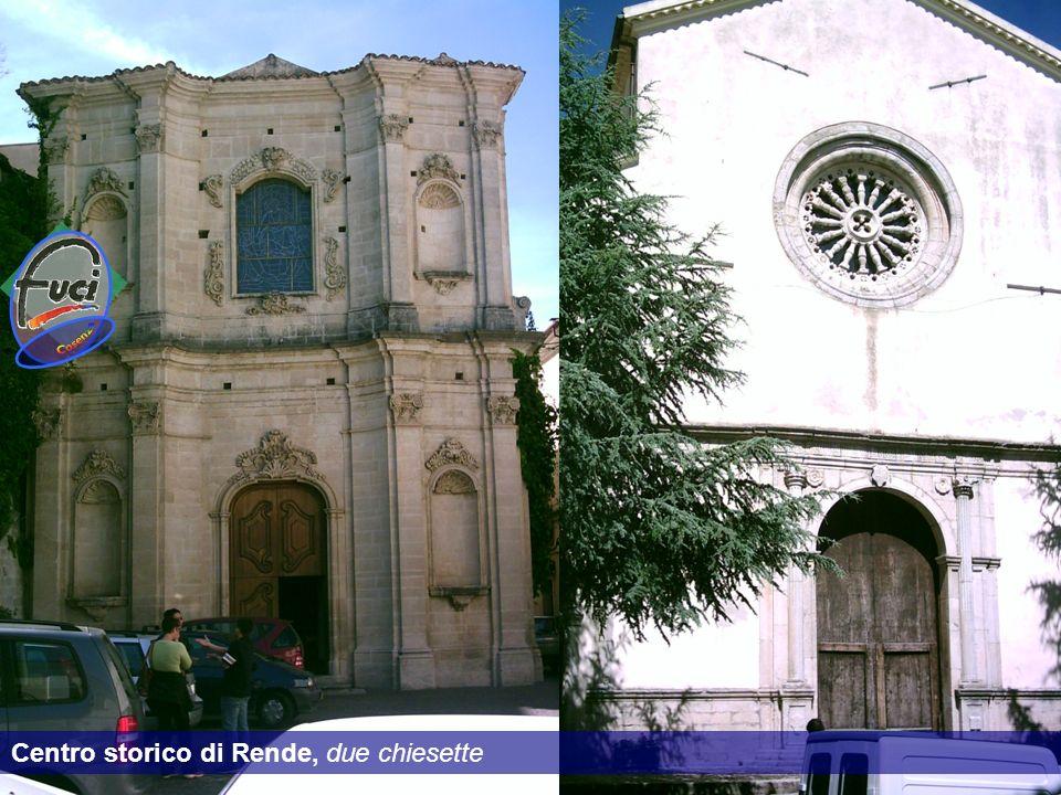 Cosenza Centro storico di Rende, due chiesette
