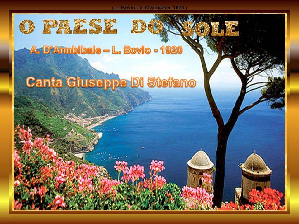 A. D'Annbibale – L. Bovio - 1920 Canta Giuseppe Di Stefano