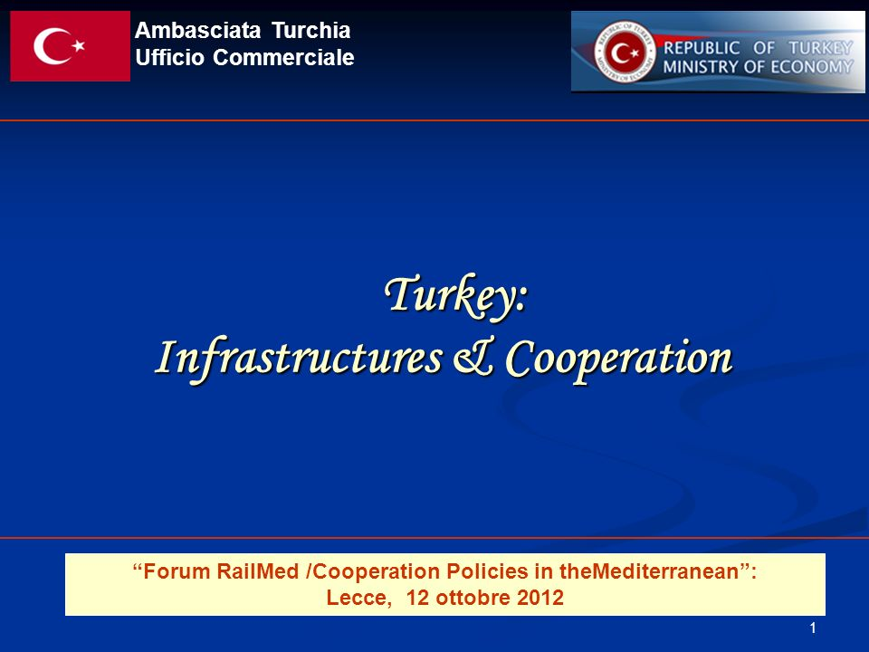 Turkey: Infrastructures & Cooperation