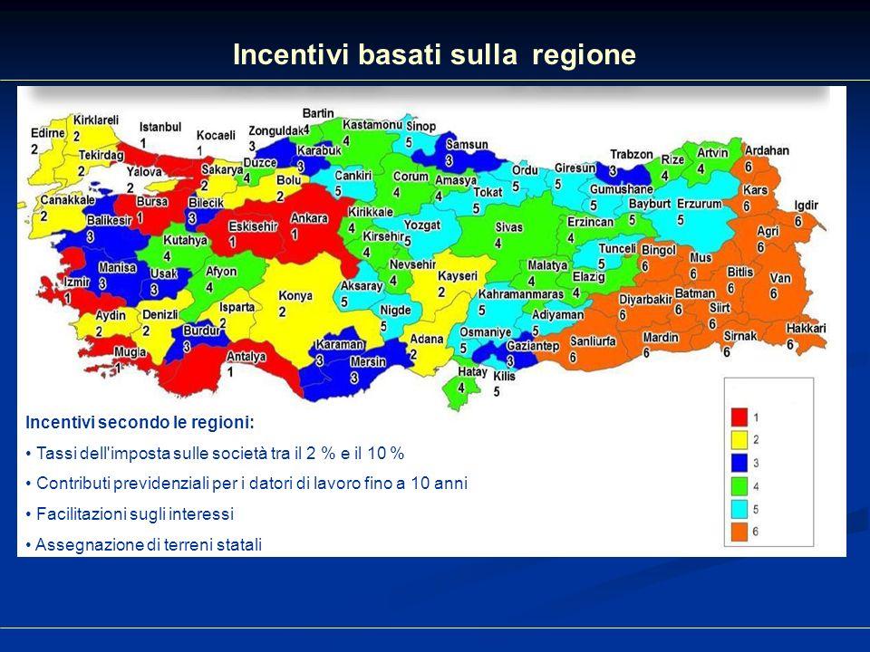 Incentivi basati sulla regione