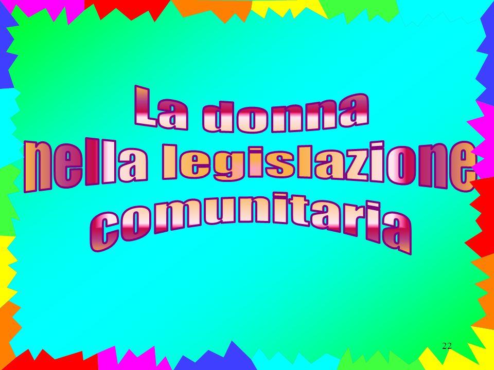 La donna nella legislazione comunitaria