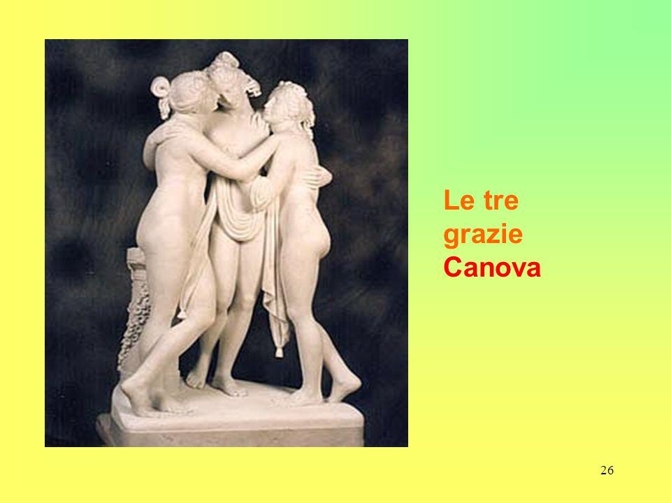 Le tre grazie Canova