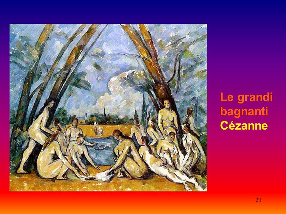 Le grandi bagnanti Cézanne