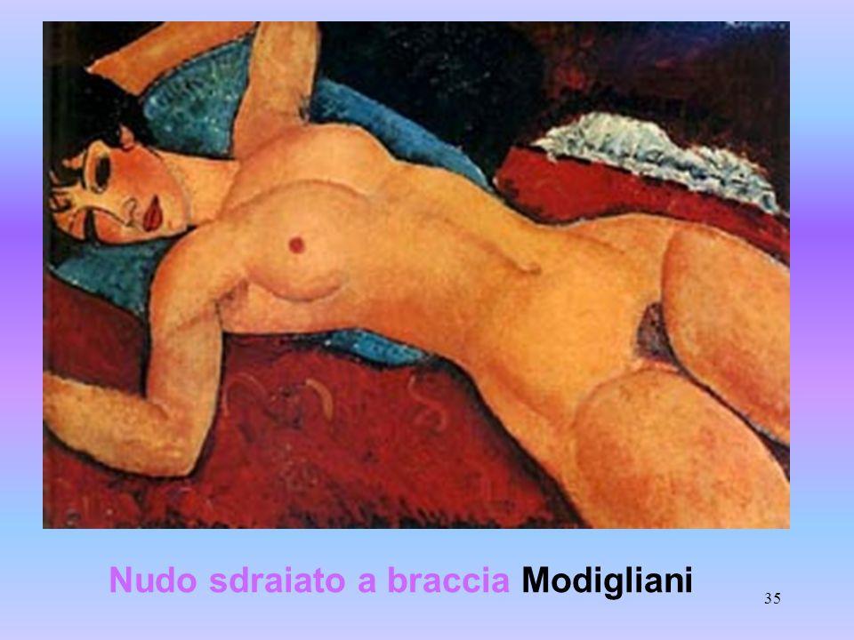 Nudo sdraiato a braccia Modigliani