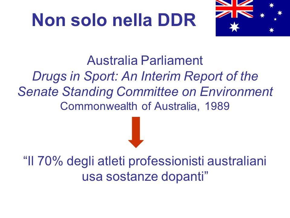 Il 70% degli atleti professionisti australiani usa sostanze dopanti