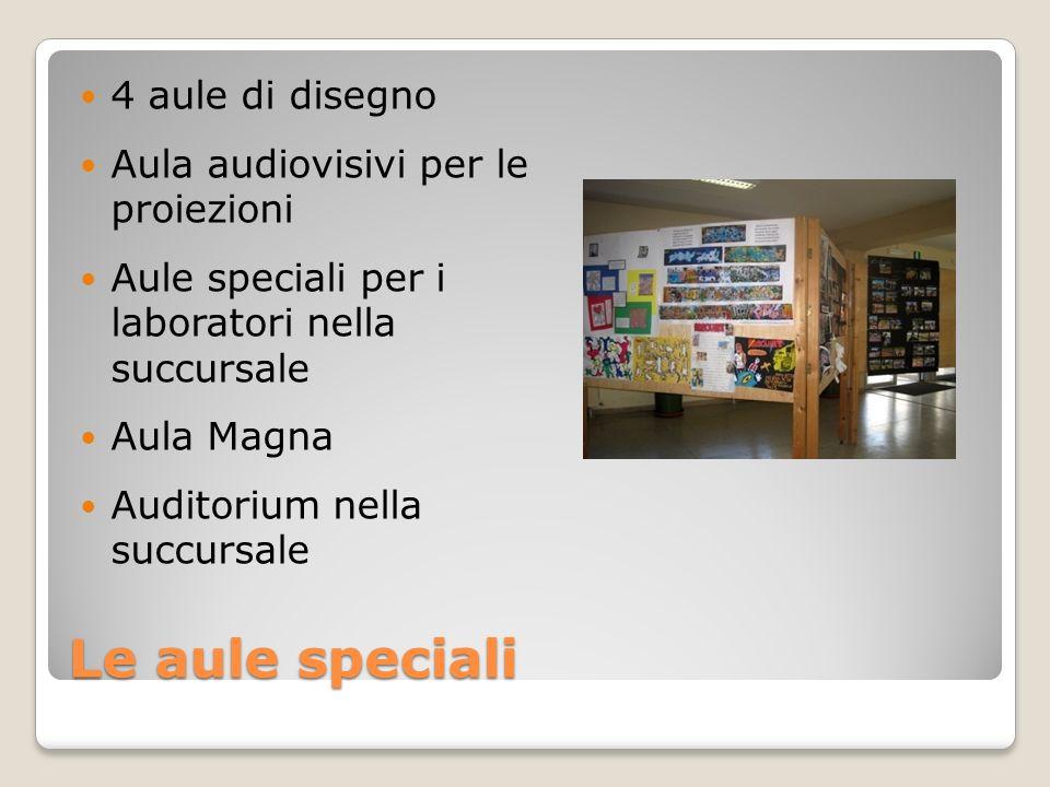 Le aule speciali 4 aule di disegno Aula audiovisivi per le proiezioni