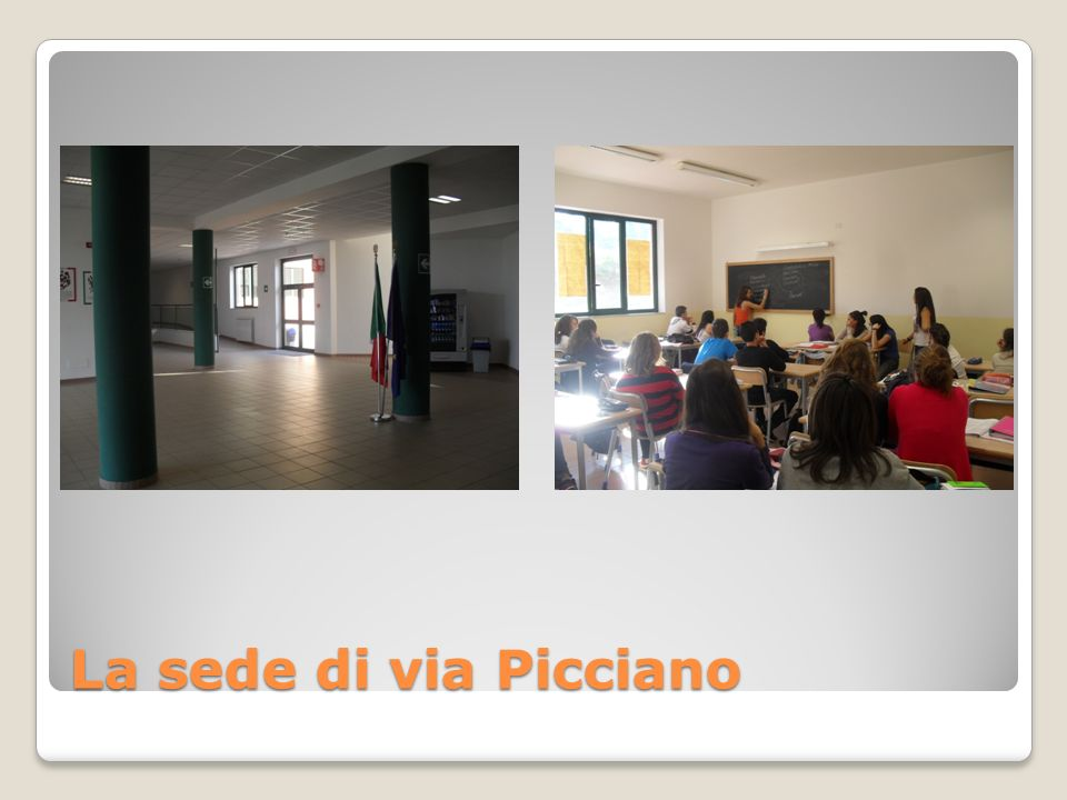 La sede di via Picciano