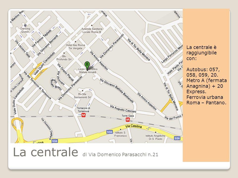 La centrale di Via Domenico Parasacchi n.21