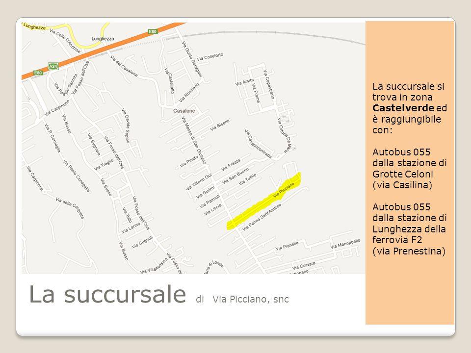 La succursale di Via Picciano, snc
