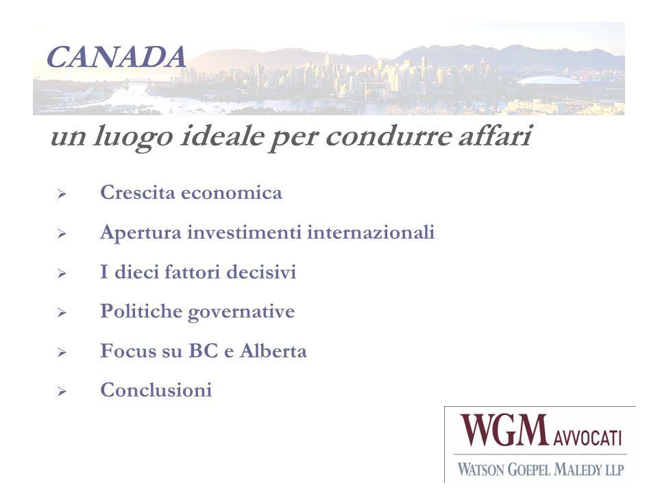 CANADA un luogo ideale per condurre affari